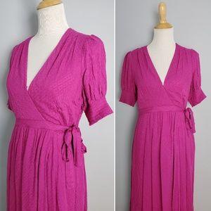 Anthropologie Maeve Breanna Pink Midi Dress